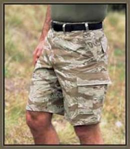 Combat Ready™ Original Vietnam Tiger Stripe™ Camo Bdu Cargo Shorts