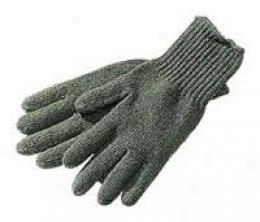 D3a Woolen Glove Linerss- Olive rGeen