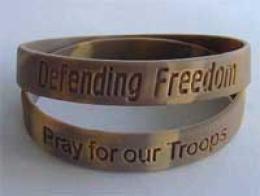 ''defending Freedom'' Desert Camo Wristband