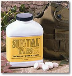 Emerency Survival Food Tablets, Vanilla Flavor
