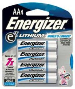 Energizer® E® Lithium® Aa Batteries 4-pk