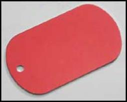 G.i. Dog Tag Blank Aluminum Plate- Red