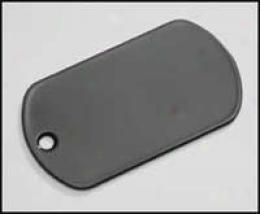 G.i. Dog Tag Blank Plate- Black