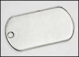G.i. Dog Tag Blank Spotless Steel Plate