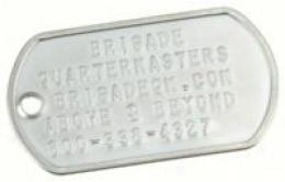 G.i. Dog Tag Staainless Steel Embossed Single Plate