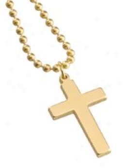 Gi Jewelry® Cross - 23k Gold Plate Finish