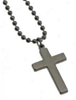 Gi Jewelry® Cross - Titanium Nitride Finish