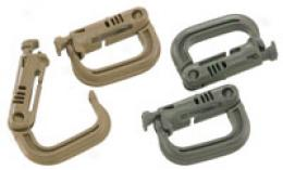 Grimlok® Locking D-ring Carabiner ~ 2 Pack