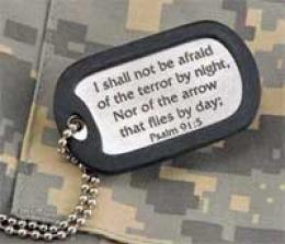 Inspirational Pewter Dog Tag -I ntrepid Souls