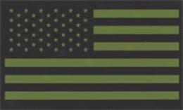 Ir Usa Flag Glint Patches