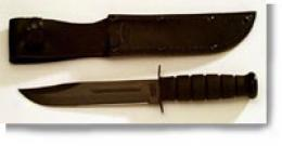 Ka-bar® Black Fighter Utility 7'' Knife - Just Edge