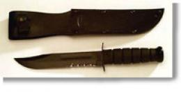 Ka-bar® Black Fighter Utility 7'' Knife- Serrated