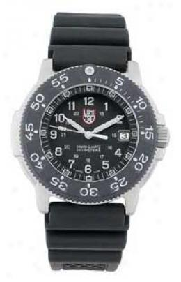Luminox® Carbon Fiber Bezel 200 M Dive Watch W/ Rubber Band