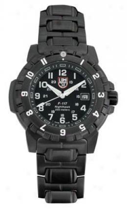 Luminox® Evo F-117 Nighthawk™ Watch With Stainless Steel Bracelet