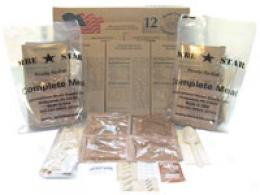 Mrestar® Rations With Heater Pack -  1 Case (12 Pouches)