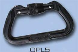 Omega Pacific® 11mm Black Locking D Aluminum Carabiner