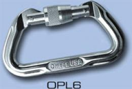 Omega Pacific® 11mm Locking D Aluminum Carabiber