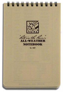 Rite In The Rain® Stormsaf™ All-weather Paper Tablet, 4''x 6'', Tan 946t