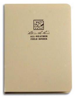 Rite In The Rain® Stormsaf™ All-weather Field Binder W/ Paper, Tan