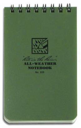Rite In The Rain® Stormsaf™ All-weather Paper Tabblet, 3''x 5'', Od 935