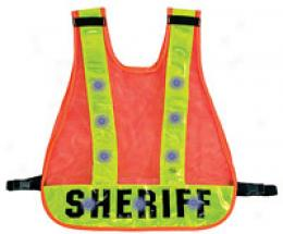 Safety Outdoors™ Flashing Led Relfective Vest ~ Sheriff