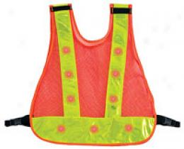 Safety Outdoors™ Flashing Led Reflective Vest