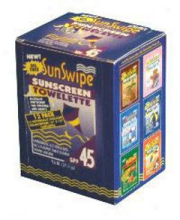 Sunswipe® Sunscreen Towelette, 45 Spf