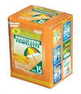 Sunswipe® Sunscreen Towelette, 15 Spf