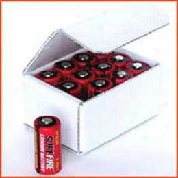 Surefire® Dl123a 3-volt Lithium Battery - 12 Pack Box **hm*