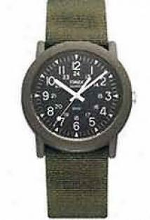 Timex® Quartz Military 12 / 24 Hour Camper aWtch