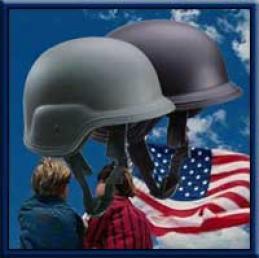 U.s. Military Pasgt Style Plastoc Helmet