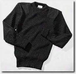 Woolly Pully® Sweater Crew Neck, Black