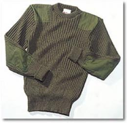 Woolly Pully® Sweater Usmc Olive Verdant Crew Neck
